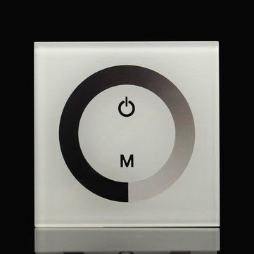 Touch Panel Dimmer Wall Switch Ring White LED Light Contorller DC12-24V 8A
