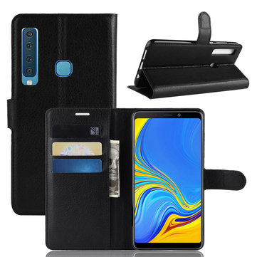 PU Leather Wallet Kickstand Flip Protective Case For Samsung Galaxy A9 2018