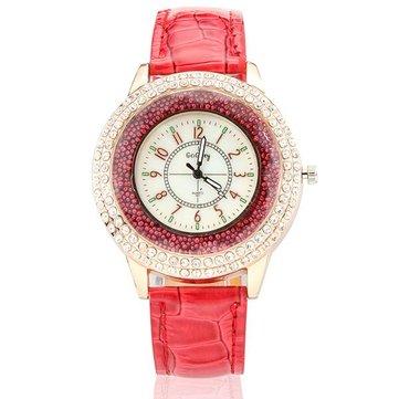 Fashion Rhinestone Korean Style Quartz Elegant Woman Wrist Watch