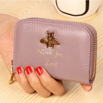 Genuine Leather Organ Card Women's Leather Wallet Multi-card