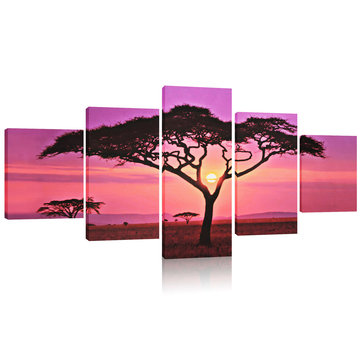 Large Sunset&Tree Canvas Print Wall Art Painting Picture NO Frame Home Decorations
