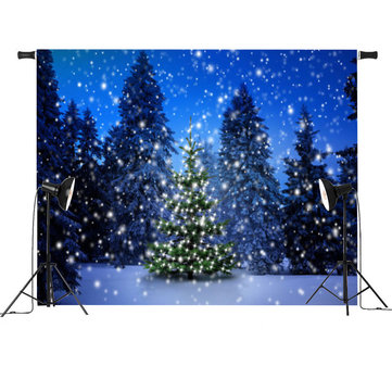 Snow Night World Theme Photography Vinyl Backdrop Studio Background 2.1m x 1.5m