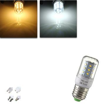E27/E14/G9/GU10/B22 2.8W 21 SMD 2835 LED Corn Bulb Warm White/White 110V