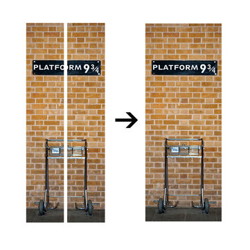 3D DIY Harry Potter Platform 9 3/4 Door Wall Sticker Wrap Mural Decole Self Adhesive Room Decor