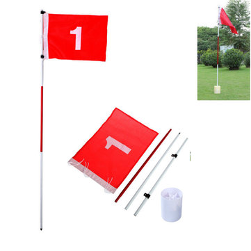 Golf Flag Pole & Cup Stick Putting Set Backyard Training Aid Outdoor Golf Practice Flag Sticker