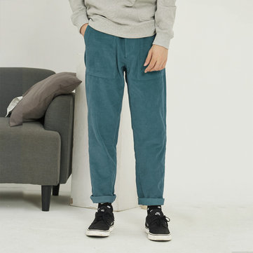 Mens Vintage Corduroy Loose Casual Pants