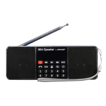 L-288 AMBT Bluetooth Portable LCD FM/AM Radio Stereo Speaker MP3 Music Player Micro SD USB