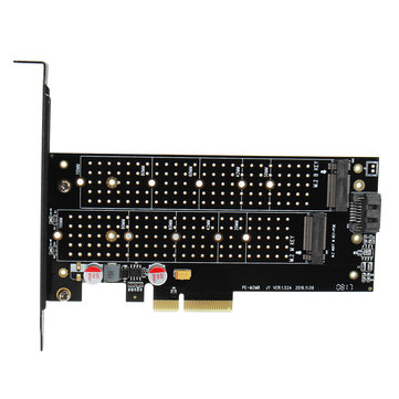 JEYI SK7 M.2 NVMe SSD NGFF TO PCI-E X4 Expansion Card Support PCI E 3.0 Dual Voltage
