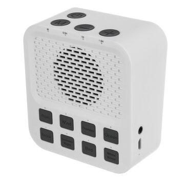 Mini machine à son de bruit blanc sans fil avec 8 minuterie d'extinction automatique de Sound Sound Sound pour instrument de thérapie pour améliorer la qualité du sommeil de bébé