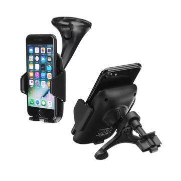 Qi Car Wireless Dashboard Air Vent Phone Charger Holder ABS Stand Mounts for Iphone X