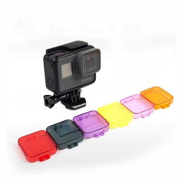 Diving Under Water Lens Filter Cover for Gopro Hero 5 Sport Actioncamera Accessories