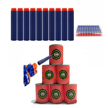 100PCS Refill Deep Blue Bullets Dart For Nerf N-strike Elite Rampage Retaliator Novelties Toys