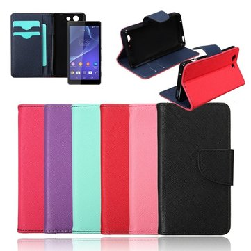 Magnetic Flip Wallet PU Leather Cover Case For Sony Xperia Z3 Compact