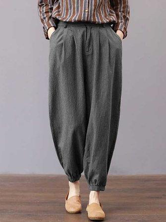 Women High Waisted Striped Stretch Bottom Pants
