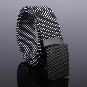 120CM Mens Casual Nylon Dots Smooth Buckle Waist Belt Outdoor Durable Military Tactical Belt