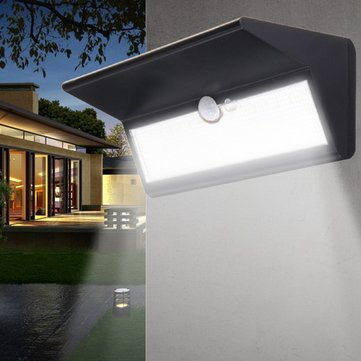 6W Solar Power PIR Motion Sensor 46 LED Wall Light Waterproof Outdoor Garden Security Lamp