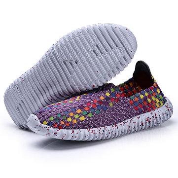 США Размер 5-9 Женское Обувь Ручной тканый Breathable Чистый Холлоуз Пляжный Лето