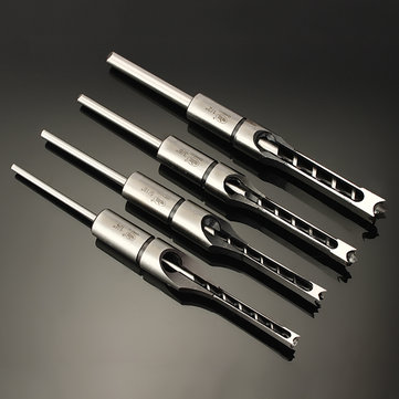 6.35/7.94/9.5/12.7mm Woodworking Square Hole Drill Bit Mortising Chisel 1/4 to 1/2 Inch