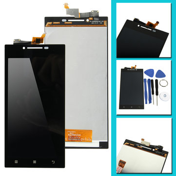 Black Full LCD Display Screen+Touch Screen Digitizer Assembly Replacement With Tools For Lenovo P70