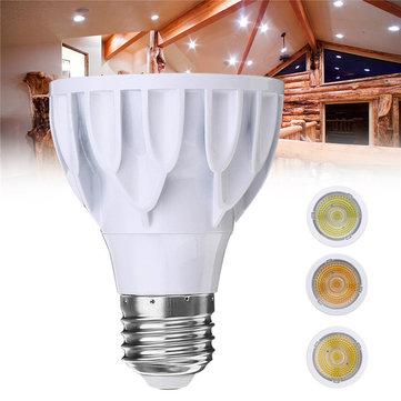 E27 7W Dimmableパー20 LED COBホワイトシェルスポットライト電球ランプホーム装飾用AC110V