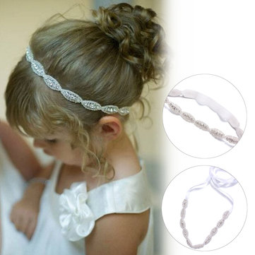 Children Baby Kids Infant Princess Flower Girls Photography Party Art Rhinestone Hair Band Headwear Accessories