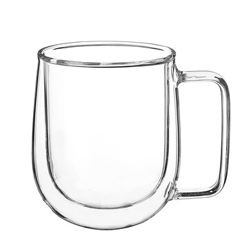 300ML Glass Coffee Tea Cup Heat Resistant Double Layer Glass Handle Double Wall