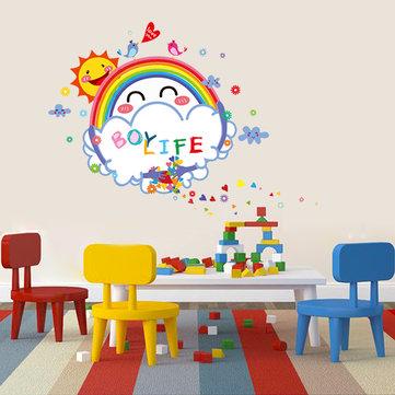 Şirin Çocuk Odası Dekoru Gülümseme Güneş Enerjili Beyaz Tahta Duvar çıkartmasıs Yıkanabilir Çocuk Odası Duvar Çıkartmaları