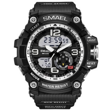 SMAEL 1617 LED Digital Watch Digital Analog Dual Display Japan Movement Men Watch