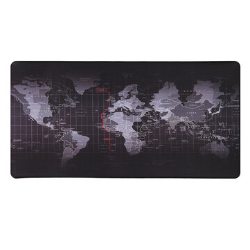 800x400x2mm Large Non-Slip Laptop Computer Keyboard World Map Mouse Desktop Pad Mat