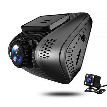 J3 1080P HD 숨겨진 된 자동차 DVR 비디오 듀얼 렌즈 와이파이 2 인치 운전 레코더 밤 비전