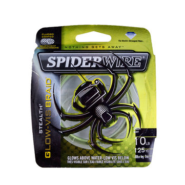 Spiderwire GLOW-VIS 114m PE Braid Line 0.8-6.0 Size 2.7-36.2KG Drag Power Fishing Wire