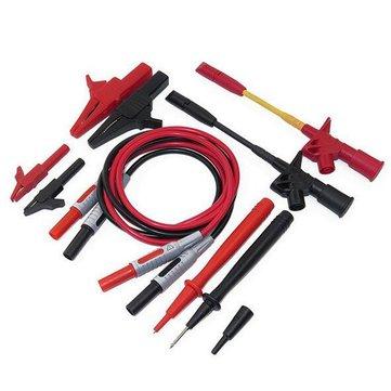 P1600C 10 in 1 Electronic Multimeter Probe Leads Kit Banana Plug Automotive Test Probe Kit