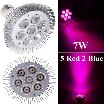 7W E27 5 Red 2 Blue Garden Plant Grow LED Bulb Greenhouse Plant Seedling Growth Light