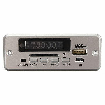 Wireless LED Car kit MP3 Audio Decoder FM Radio USB TF SD MMC Card 5V Remote Control