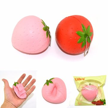 Kiibru Strawberry Squishy Slow Rising 7cm With Original Packaging Candy Scented Fun Gift Phone Bag Strap Decor
