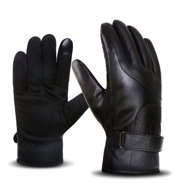 Waterproof Warm Leather Gloves Motorcycle Safety Sport Touch Screen Gloves Men Female