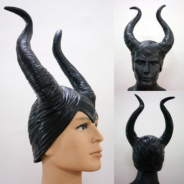 Maleficent Black Horns Halloween Women Party Costume Jolie Cosplay Magic Horror