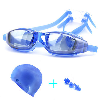 Men Women Swimming Goggles Anti Fog Uv Protection Waterproof Swim Glasses Suit