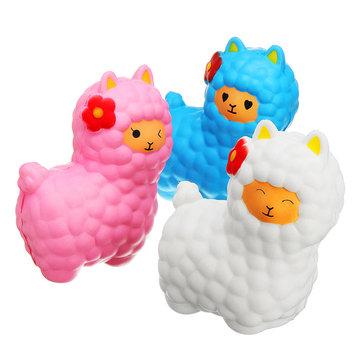 Jumbo Sheep 17cm Squishy Alpaca Super Slow Rising Cream Scented Fun Toys