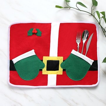 Christmas Glove Table Mat Pad for Dining Table Tableware Set Home Decor Xmas Gifts