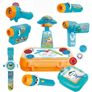 XANES FDE001-06 Octonauts Baby Sleeping Story Submarine Projector Slide Flashlight Children Sleeping Educational Toy