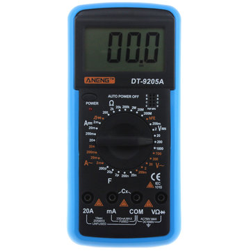 ANENG DT9205A Digital Multimeter AC/DC Voltage Current Resistance Capacitance Diode Triode Tester