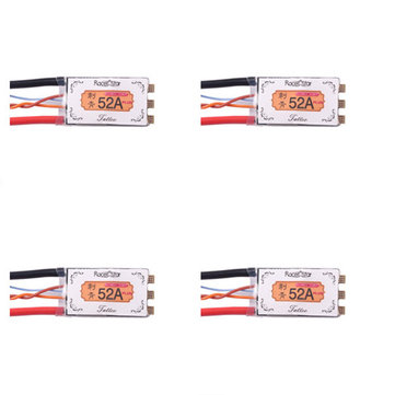 4XRacerstar Tattoo+ 52A BLheli_32 GD32F150 ESC Dshot1200 Ready Current เซนเซอร์ LED Telemetry สำหรับ RC โดรน
