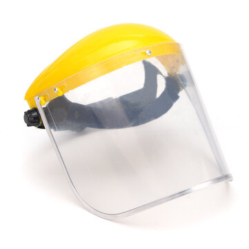 Malla transparente Visera completa Pantalla de protección contra el rostro Máscara de seguridad Protector de ojos Casco Amarillo