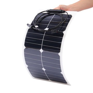 Elfeland® SP-12 25W 18V Sun Power Battery Charger Mono Solar Panel For Boat Camping