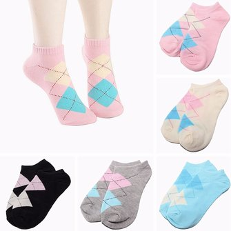 Women Cotton Sock Casual Sports Cute Heart Diamond Ankle Low Cut Socks