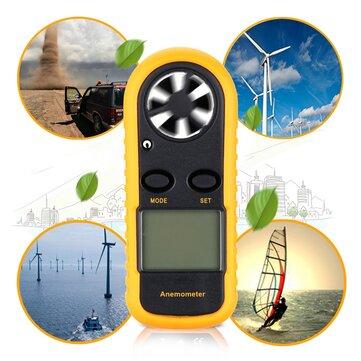 Electronic Digital LCD Mini Smart Sensor Air Wind Speed Meter Gauge GM816 Anemometer