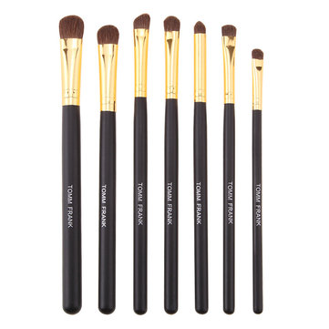 7pcs Soft Horsehair Makeup Brushes Set Eyeshadow Eyeliner Eyebrow Lip Stick Horse Hair