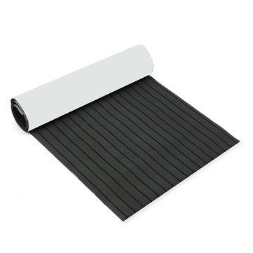 900mmx2400mmx5.5mm Dark Grey and Black EVA Foam Faux Teak Sheet Boat Yacht Synthetic Teak Decking
