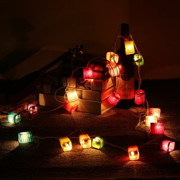 3M 20LEDs Chinese Paper Lantern Fairy String Light Wedding Garden AC110-240V US Plug